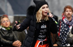 Madonna performs at the Women's March in Washington U.S., January 21, 2017. REUTERS/Shannon Stapleton